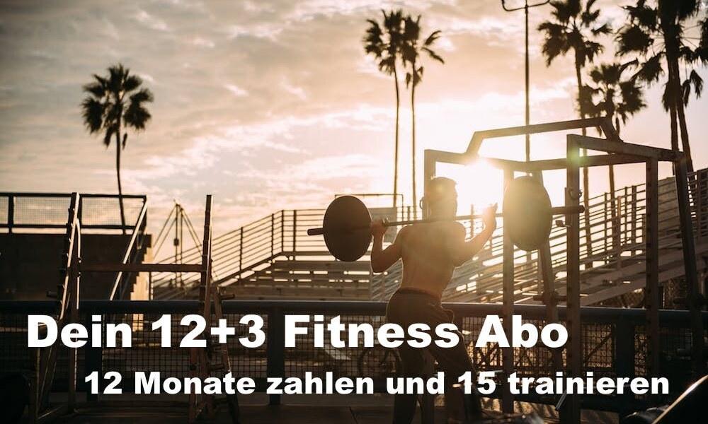 Dein 12+3 Fitness Abo – 15 Monate Personal Training, nur 12 zahlen