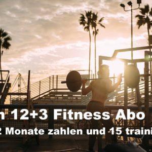 Beim 12+3 Fitness Abo trainierst Du ganze 15 Monate, zahlst aber nur 12