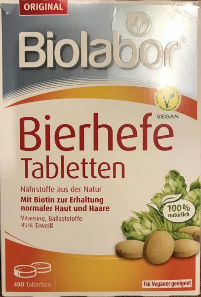 Bierhefe Tabletten der Firma Biolabor