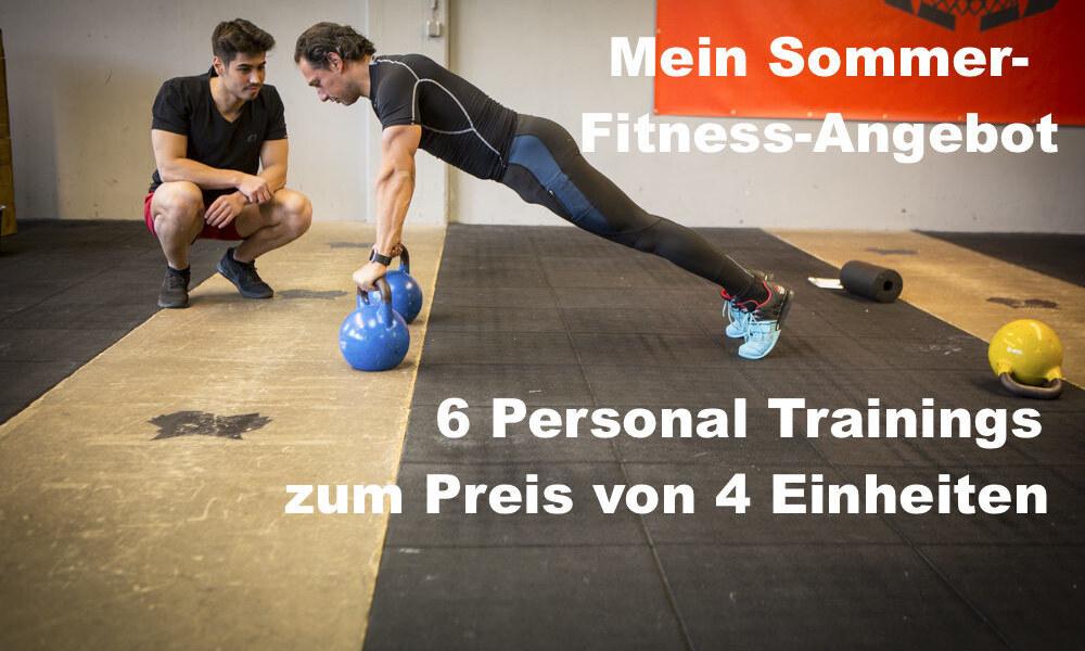 6 Personal-Trainings-Einheiten im Sommer-Fitness-Angebot