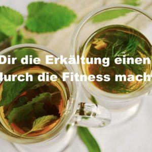 Um schnell wieder fit zu sein gehört Tee und viel Entspannung